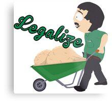 Legalize Marijuana, Randy Marsh South Park style Metal Print