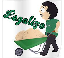 Legalize Marijuana, Randy Marsh South Park style Poster