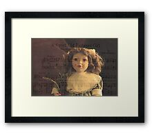 A Sweet Old Fashioned Girl Framed Print