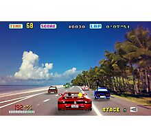 Outrun retro pixel art Photographic Print