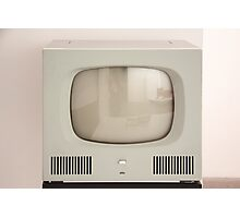 Old Television Photographic Print