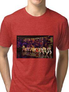 Street Fighter II pixel art Tri-blend T-Shirt