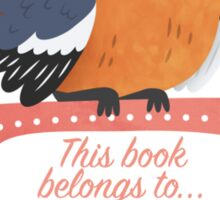 Cheery Chaffinch Book Plate Sticker