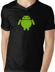 Fat Android Mens V-Neck T-Shirt