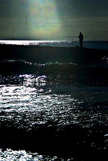 Fisherman Silhouette by Richard Hamilton-Veal