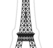 Black and White Eiffel Tower Sticker
