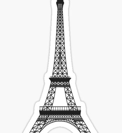 Black and White Eiffel Tower Sticker