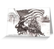 brothers and heroes Greeting Card