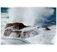 Ocean Water Fall - Fraser Park NSW Poster
