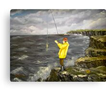 Fishing from the Cliffs of Clare, Ireland Canvas Print