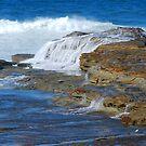 Ocean Cascades - Norah Head NSW by Bev Woodman