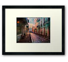 Streets of San Juan Framed Print