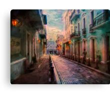 Streets of San Juan Canvas Print