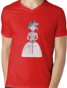 Girl T-shirt Mens V-Neck T-Shirt