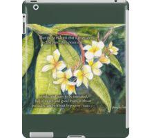 Plumeria-James 3:17 iPad Case/Skin