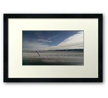 Snowy Plains of Cheyenne, WY Framed Print