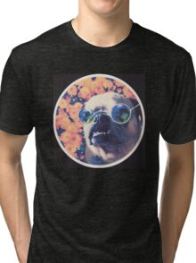 The Grooviest Pug on Earth Tri-blend T-Shirt