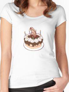 Happy Chestburster Birthday Women's Fitted Scoop T-Shirt
