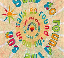 Sally Go Around-Childrens Art Print by Robert Burns