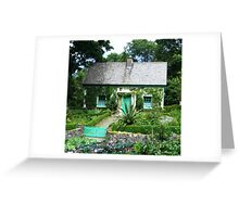 Cottage all covered in ivy Greeting Card