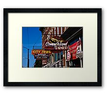 Signs Signs Framed Print