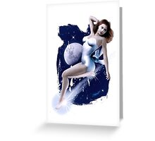 Monday's Child - Classic Pin Up Girl Greeting Card