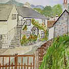 Watercolour . Hawkshead . by Irene  Burdell