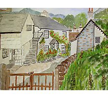 Watercolour . Hawkshead . Photographic Print