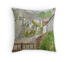 Watercolour . Hawkshead . Throw Pillow