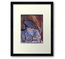 The old guy ..Age is just a number Framed Print