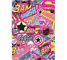 Comic Freak (Pink) Photographic Print