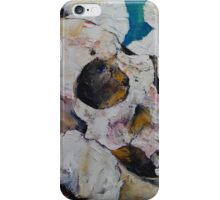 Skull with White Poppies iPhone Case/Skin