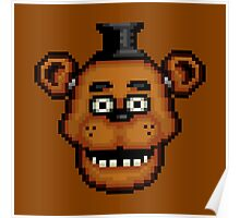Five Nights at Freddy's 1 - Pixel art - Freddy Poster