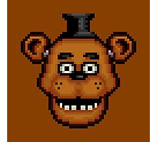 Five Nights at Freddy's 1 - Pixel art - Freddy Photographic Print