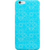 Diamond Gem Shape Outline TEAL iPhone Case/Skin