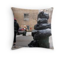 Inside Job Garbage Throw Pillow