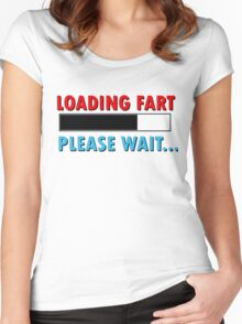 Loading Fart Please Wait | Humor Comedy Women's Fitted Scoop T-Shirt