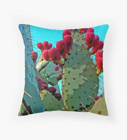 Cactus Apples Throw Pillow