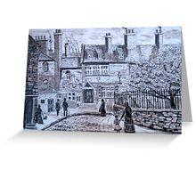 Amen Corner, Newcastle upon Tyne circa 1850 Greeting Card
