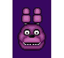 Five Nights at Freddy's 1 - Pixel art - Bonnie Photographic Print