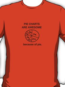 Pie Charts are Awesome - Because of Pie T-Shirt