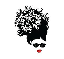 Red Lips Photographic Print