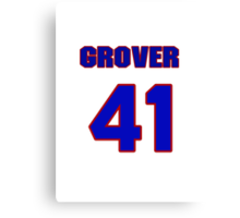 National baseball player Grover Powell jersey 41 Canvas Print