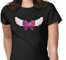 Kawaii Wing Heart Bow Womens Fitted T-Shirt