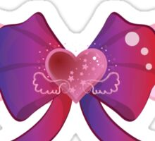 Kawaii Wing Heart Bow Sticker