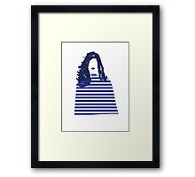 Stripe girl Framed Print
