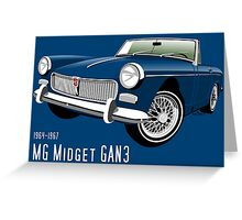 MG Midget Mark II blue Greeting Card
