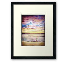 Beach lovers... Framed Print