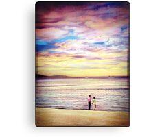 Beach lovers... Canvas Print
