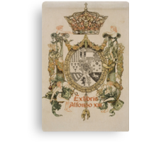 'Book Plate of Alphons XIII' by Alexandre de Riquer (Reproduction) Canvas Print